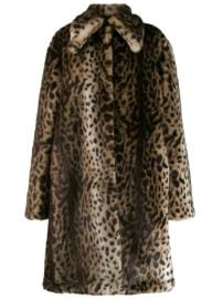 Rokh Leopard faux-fur Coat - Farfetch at Farfetch