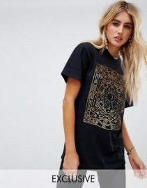 Rokoko oversized t-shirt with tarot foil graphic   ASOS at Asos