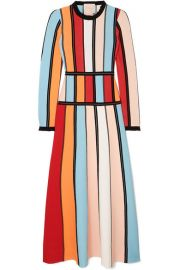 Roksanda - Cutout color-block stretch-knit midi dress at Net A Porter