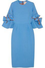 Roksanda   Lavette ruffled crepe midi dress at Net A Porter