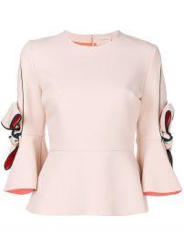 Roksanda flared bow-sleeve blouse at Farfetch