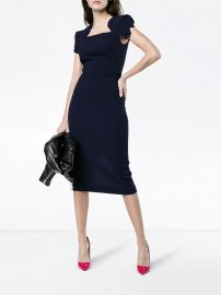 Roland Mouret Wool Royston Cap Sleeve Dress at Farfetch