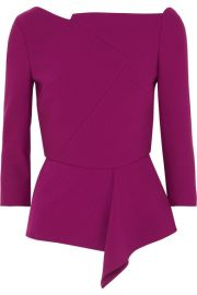 Roland Mouret   Almeley asymmetric crepe top at Net A Porter