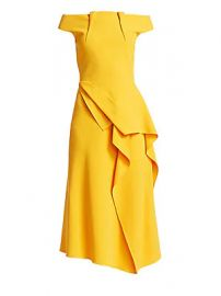 Roland Mouret - Arch Off-The-Shoulder Midi Dress at Saks Fifth Avenue