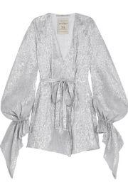 Roland Mouret   Hamberg metallic silk-blend lam   mini dress at Net A Porter