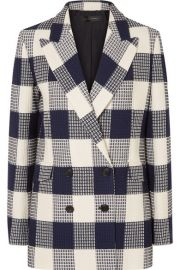 Roland Mouret - Harleston checked cotton-blend boucl   blazer at Net A Porter