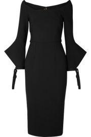 Roland Mouret - Hitchcock off-the-shoulder crepe dress at Net A Porter
