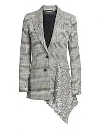 Roland Mouret - Marmont Check  amp  Sequin Blazer at Saks Fifth Avenue
