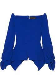 Roland Mouret - Wicklow crepe peplum top at Net A Porter