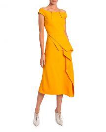 Roland Mouret Arch Off-the-Shoulder Asymmetric Dress at Neiman Marcus