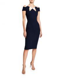 Roland Mouret Atkinson Cold-Shoulder Dress at Neiman Marcus