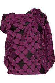 Roland Mouret Eugene open-back draped fil coupe Top at Net A Porter