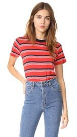 Rolla  039 s Stripey Crew Tee at Shopbop