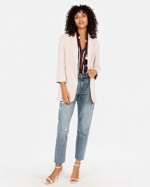 Rolled sleeve blazer at Express