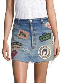 Rolling Stones Denim Mini Skirt at Saks Fifth Avenue