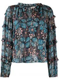 Roma floral-print blouse at Farfetch