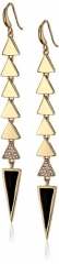 Roman Luxe Triangle Drop Earrings at Amazon