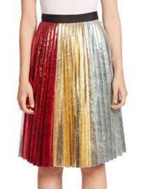 Romance Was Born - Metallic Accordion Pleated Skirt at Saks Off 5th