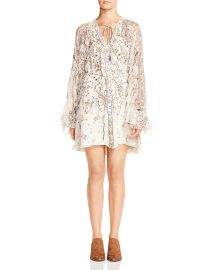 Romani Ruffled Floral-Print Silk Dress at Bloomingdales