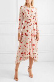 Romona floral-print silk crepe de chine midi dress at Net A Porter