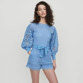Romper in Daisy Guipure by Maje at Maje