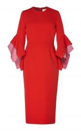 Ronda Two-Tone Crepe Midi Dress by Roksanda at Moda Operandi