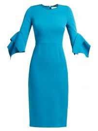 Ronda contrast-panel fluted-cuff cady dress at Matches
