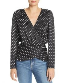 Ronny Kobo Crosella Wrap Blouse Women - Bloomingdale s at Bloomingdales