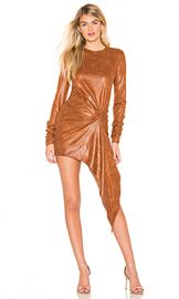 Ronny Kobo Haddasah Dress in Pecan from Revolve com at Revolve