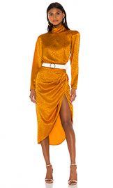 Ronny Kobo Kaira Dress in Marigold from Revolve com at Revolve