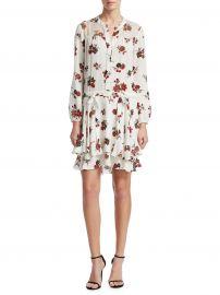 Rori Floral Silk Mini Dress at Saks Fifth Avenue