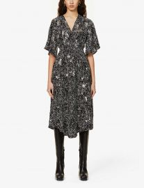 Rosabelle sequin-embellished woven midi dress at Selfridges