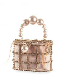 Rosantica Holli Pearl-Handle Caged Minaudiere Bag at Neiman Marcus