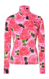 Rose Garden Floral-Print Stretch-Knit Turtleneck Top by Richard Quinn at Moda Operandi