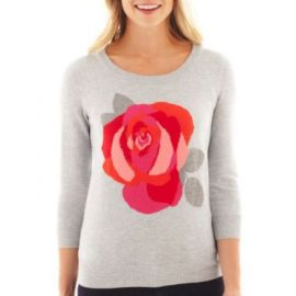 Rose Intarsia Sweater at JC Penney