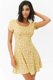 Rose Print Mini Dress at Forever 21