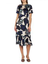 Rose-Print Sheath Dress by Marni at Saks Fifth Avenue