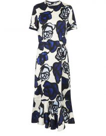 Rose-Print Sheath Dress by Marni at 24S