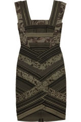 Rose print bandage dress by Herve Leger at The Outnet