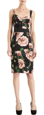 Rose print bustier dress by Dolce and Gabbana at Barneys