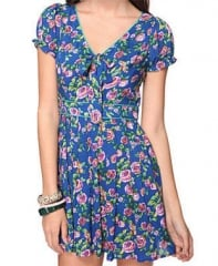 Rose print dress with bow at Forever 21