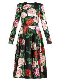 Rose-print silk-blend charmeuse midi dress at Matches
