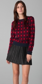 Roses red spotty sweater at Shopbop