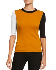 Rosetta Getty Colorblocked Cotton 1 2-Sleeve T-Shirt at Neiman Marcus