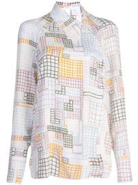 Rosetta Getty Geometric Print Shirt - Farfetch at Farfetch