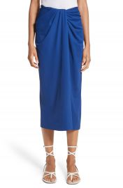 Rosetta Getty Jersey Twist Front Midi Skirt at Nordstrom