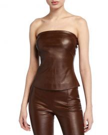 Rosetta Getty Leather Bandeau Top at Neiman Marcus