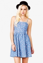 Rosette print chambray dress at Forever 21