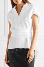Rosie Assoulin Have the Wind at Your Back cotton-poplin shirt at Net A Porter