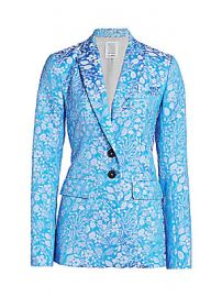 Rosie Assoulin - Brocade Classic Blazer at Saks Fifth Avenue